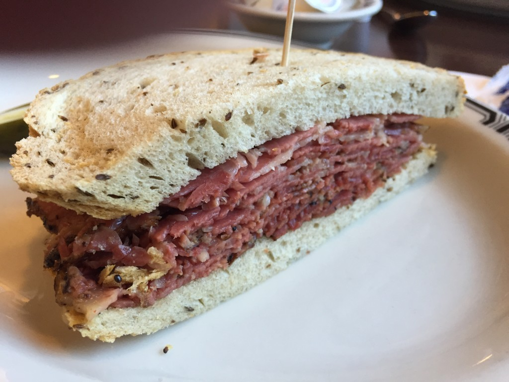 World famous pastrami at Langer's