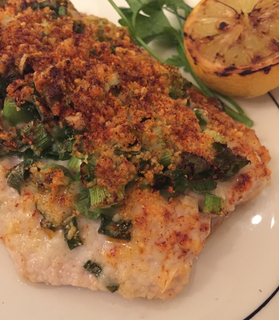 Parmesan crusted white fish